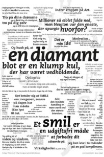 Citat plakat – Smil | Plakaten - Aarhus