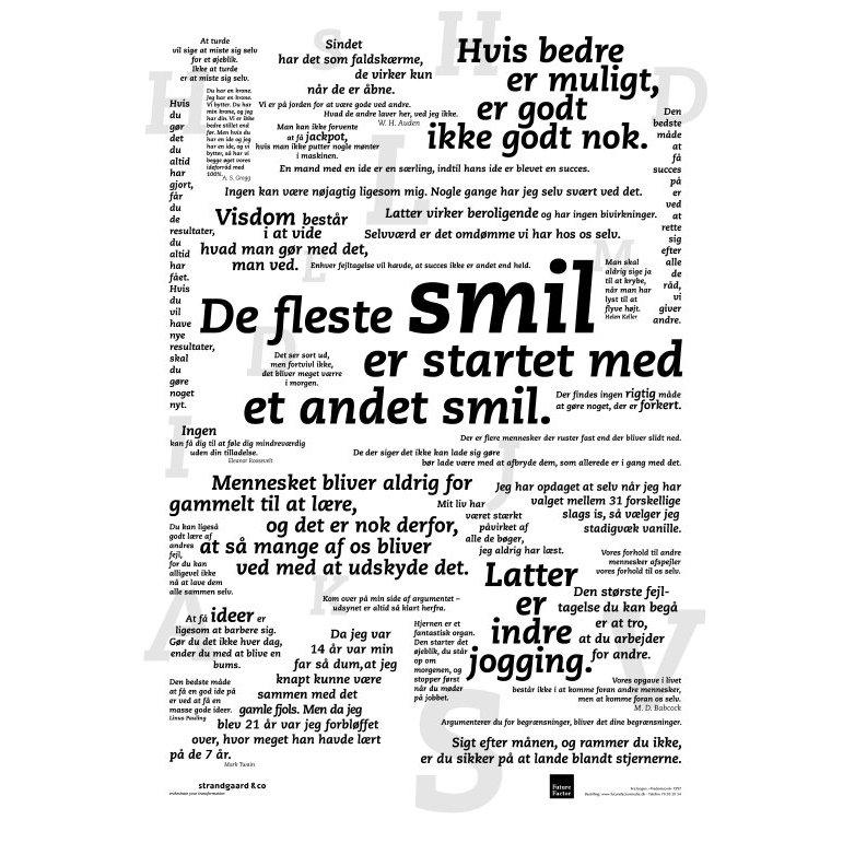 citat plakat smil Citat plakat – Smil | Plakaten   Aarhus citat plakat smil