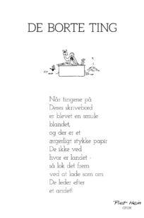 Piet Hein - gruk - de borte ting