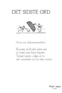 Piet Hein - gruk - det sidste ord