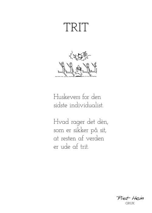 Piet Hein - Gruk - Trit