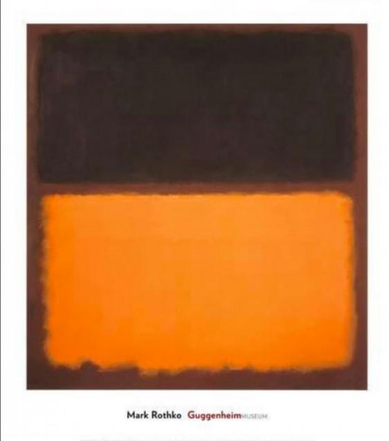 Mark Rothko - Guggenheim - no title - brown - orange