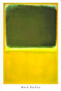 Mark Rothko - uden titel - grøn gul