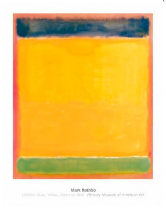 Mark Rhotko - blue orange-green-red