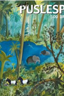 Hans Scherfig – Puslespil – Jungledyr ved Søen