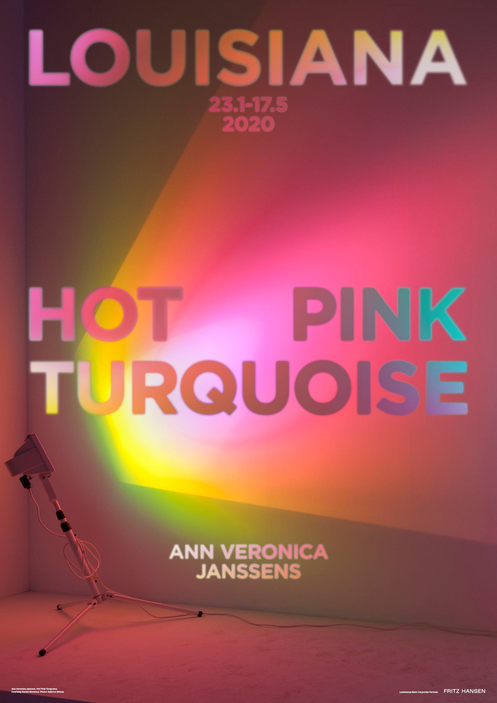 ann veronica janssens: hot pink turquoise