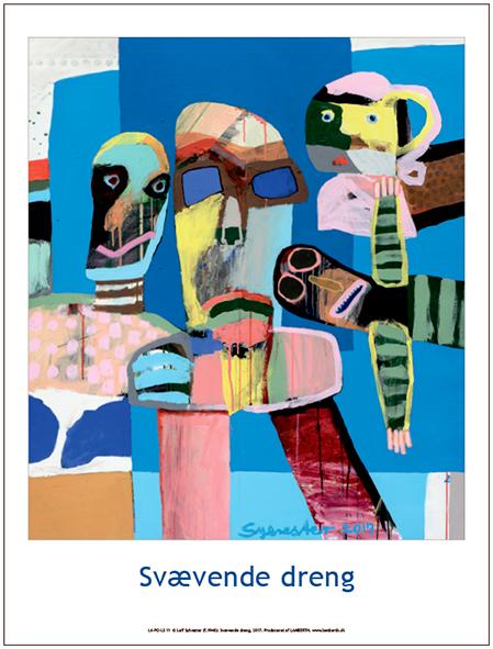 Plakaten Aarhus - Plakat af Leif Sylvester: Svævende Dreng