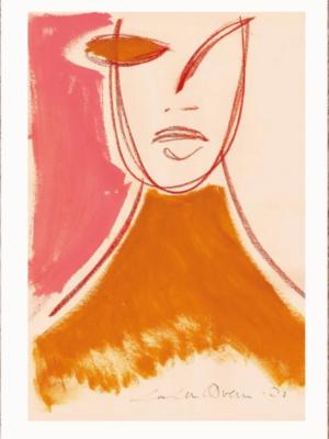 Plakaten Aarhus. Plakat af Loulou Avenue: Pink Portrait