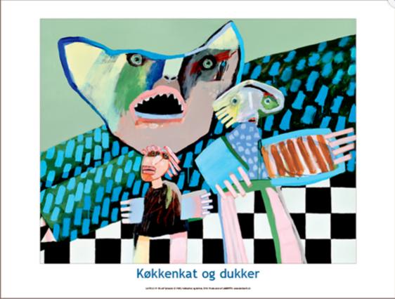 Plakaten Aarhus - Plakat af Leif Sylvester - Køkkenkat og dukker