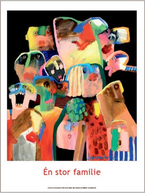 Plakaten Aarhus: Plakat af Leif Sylvester: Én stor familie