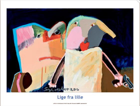 Plakat af Leif Sylvester - Lige fra lille