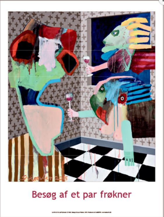 Plakaten Aarhus - Plakat af Leif Sylvester: Besøg af et par frøkner