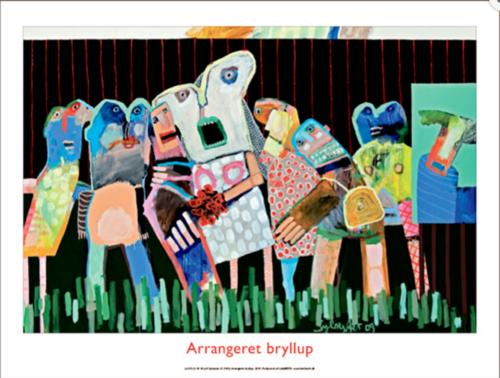 Plakaten Aarhus - Plakat af Leif Sylvester - Arrangeret bryllup