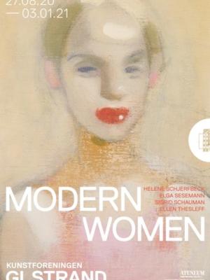Plakaten Aarhus - Kunstforeningen GL STRAND: Modern Woman