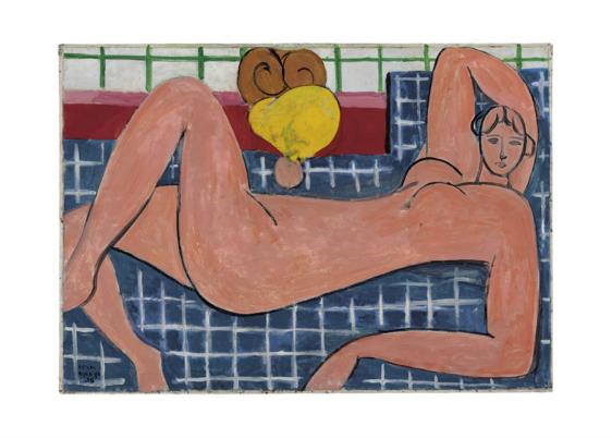 Plakaten Aarhus Henry Matisse Nu rose 1935