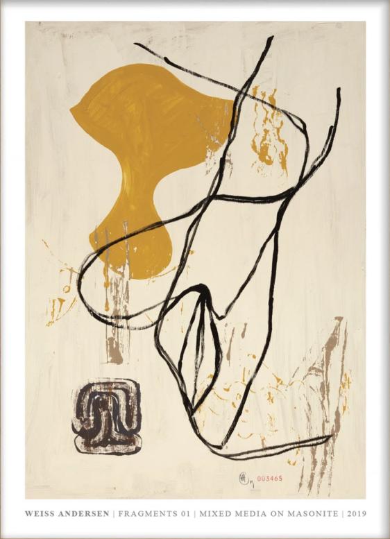 Plakaten Aarhus: Weiss Andersen - Fragments 01